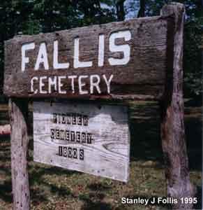 Fallis Pioneer Cemetery sign