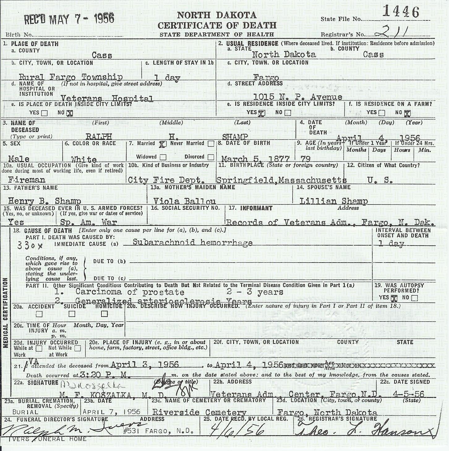 Shamp Family Name – Andrew Jackson Worksheet