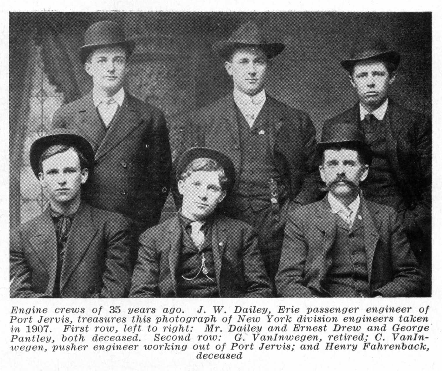 Erie Railroad Magazine Employee Master Index
