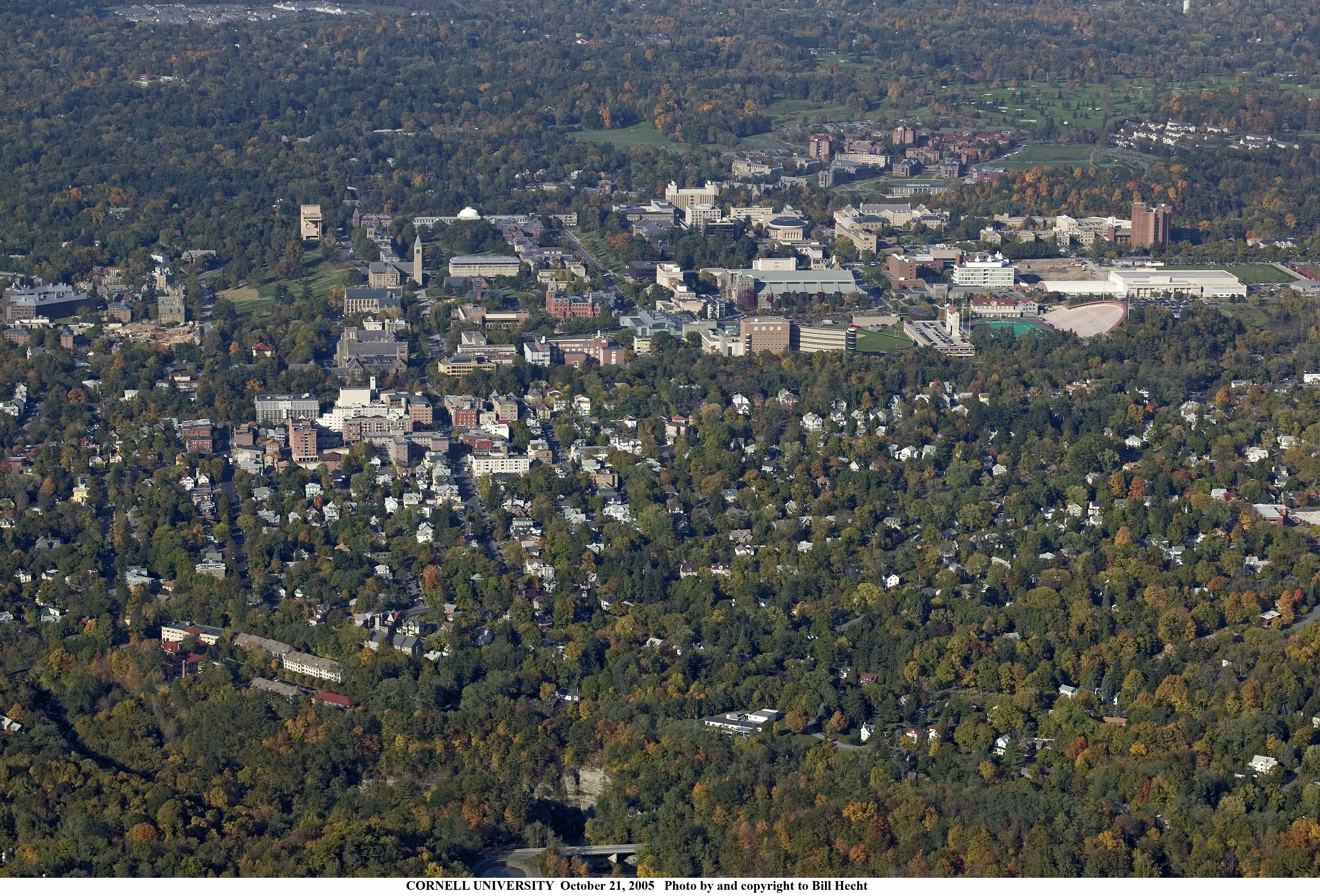 some ithaca news page 37 skyscraperpage forum but it is the best pic of my old hood i ve seen collegetown is the bottom 4 5s of the picture it starts at the business section across the gorge from