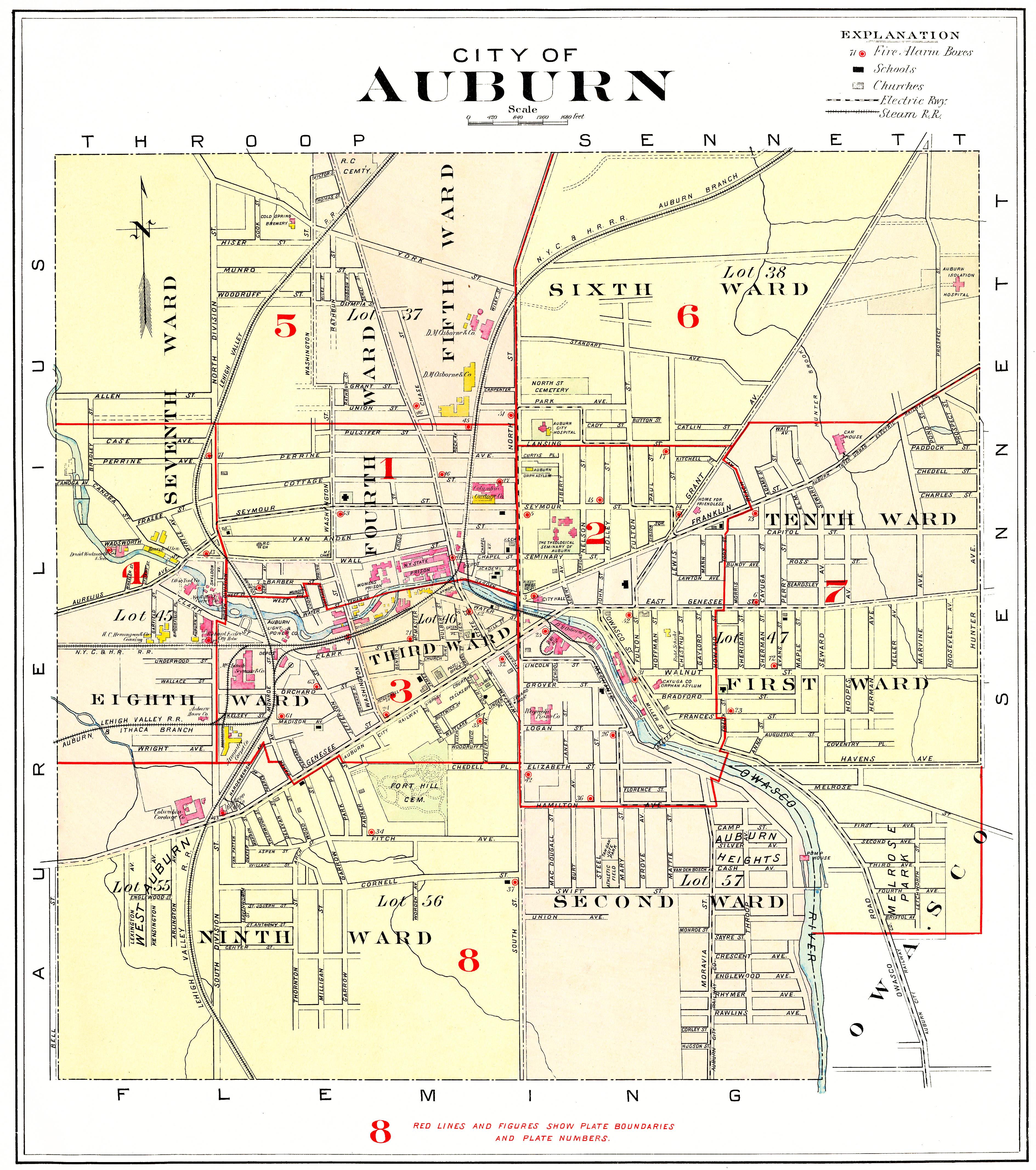 New york cayuga county - City Of Auburn 2 5x