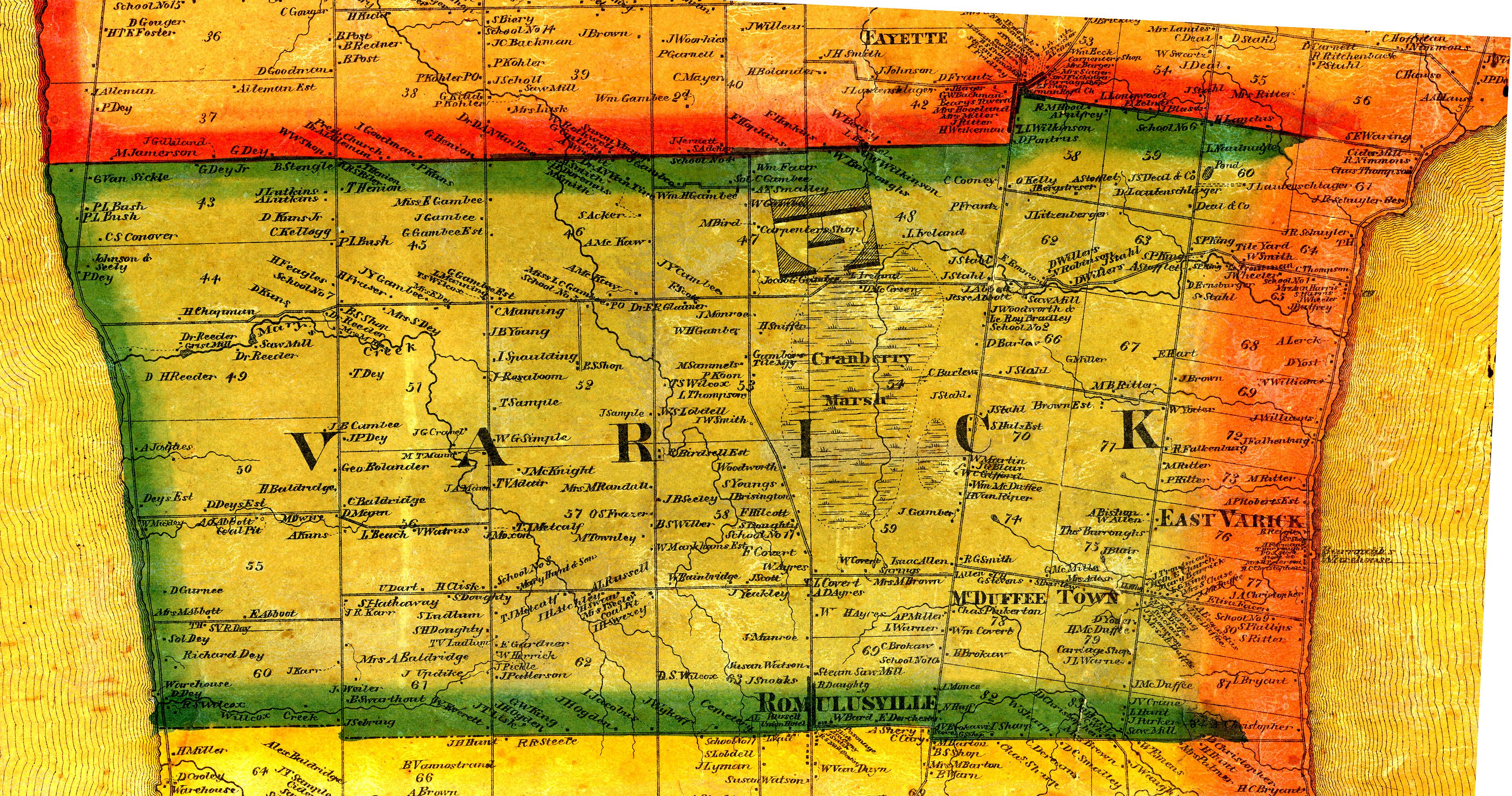1859 Cayuga/Seneca County, NY Mapvarick town