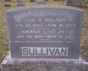 John & America (Rockett) Sullivan Tombstone
