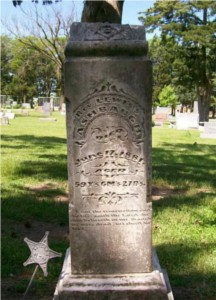 Rev. Lewis Sells Ashbaugh tombstone