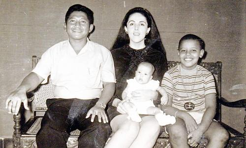 Lolo & Stanley (Dunham) Soetoro with children Maya Soetoro & Barack Obama