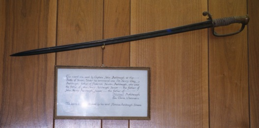 the sword of Cpt. Lewis Sells Ashbaugh
