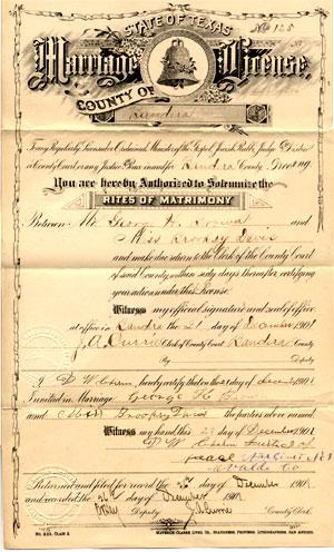 marriage license williamson county texas
