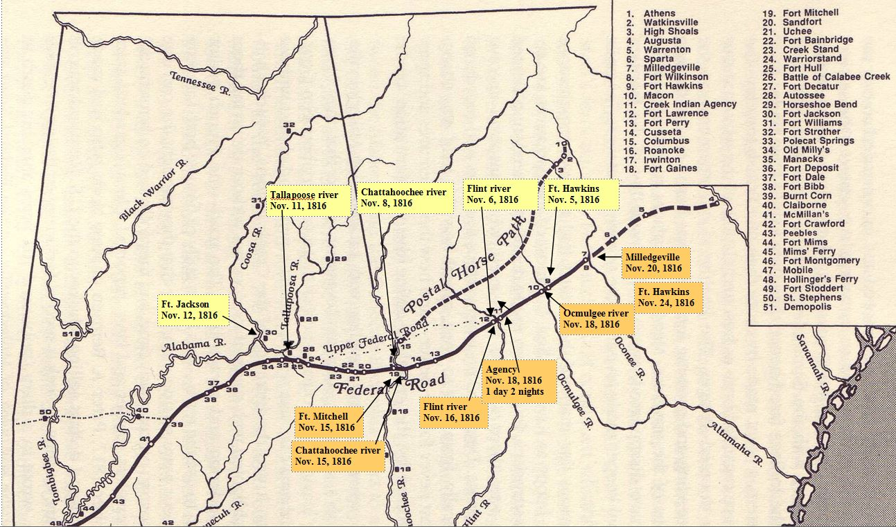 Federal Road with stops by Dabney McGehee