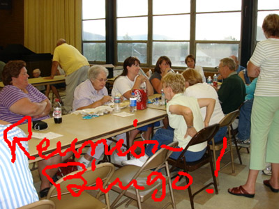 Families playing Bingo
