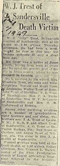 Ancestors of Warren Graham Trest