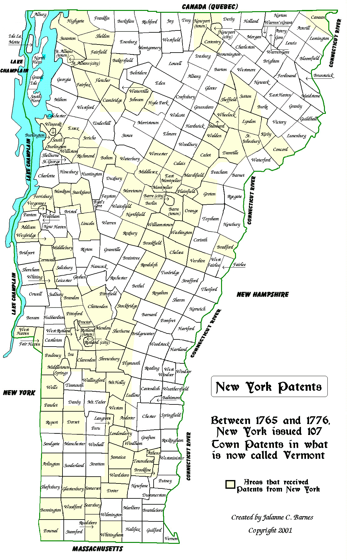Map Of New York Towns.Vermont Genealogy Resources Site Map