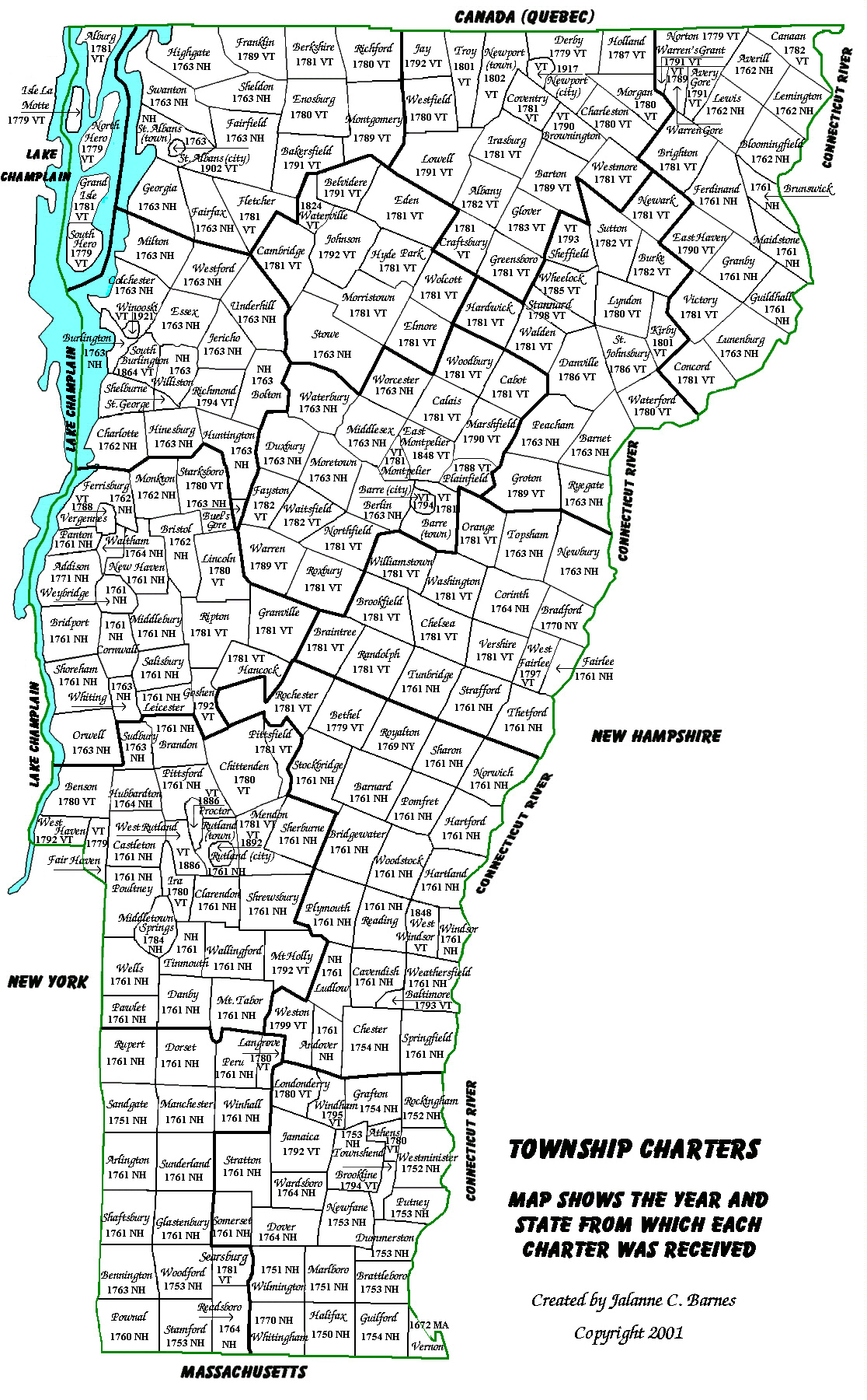 Towns In Vermont Map Maps