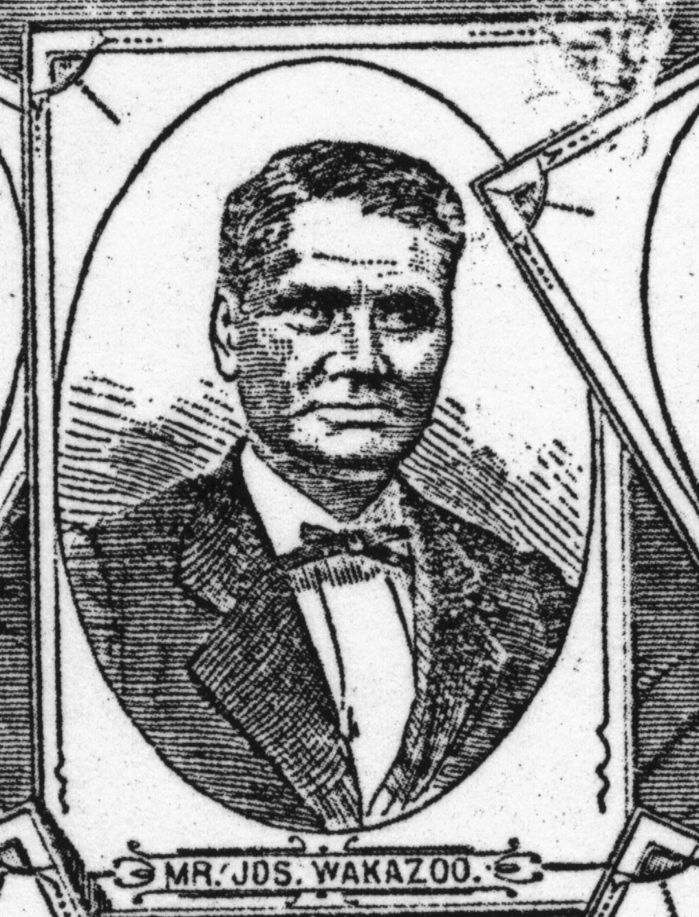 Engraving of Joseph Waukazoo