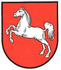 Das Wappen von Niedersachsen