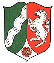 Das Wappen von Nordrhein-Westfalen