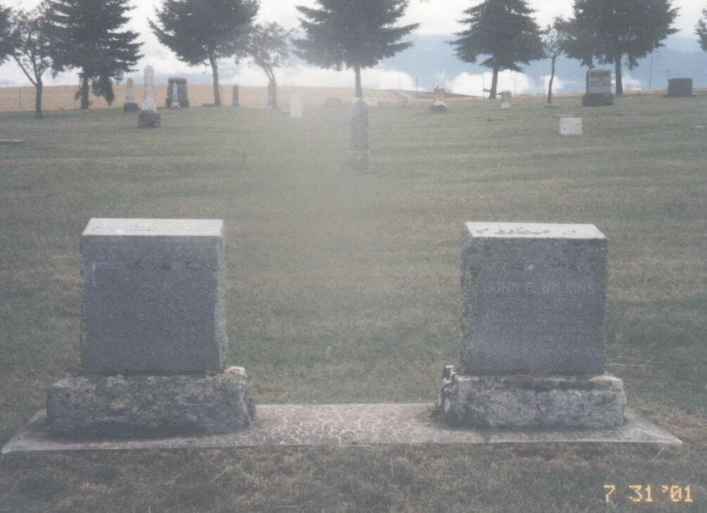 gravesite of John F. & Susan F. Seay Wilkins