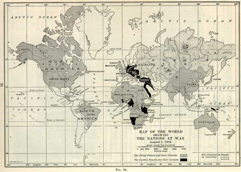 Lesson United States Entry Into World War I A Documentary - World war 1 map activity us history