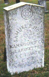 Gravestone of Samuel B. Howe