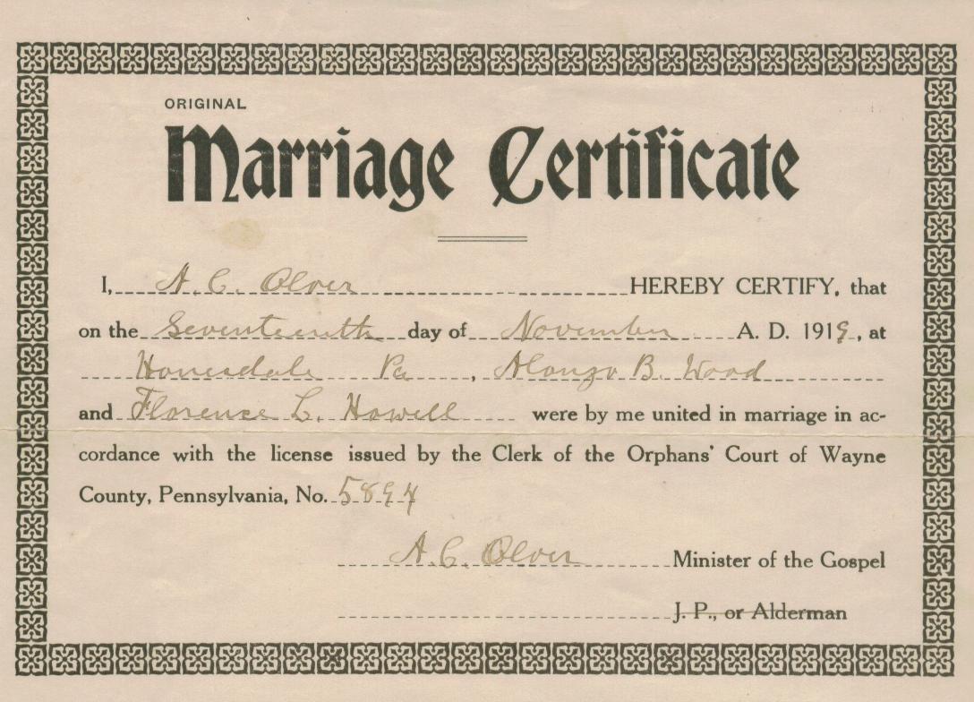 Pa marriage certificates, tanya rose