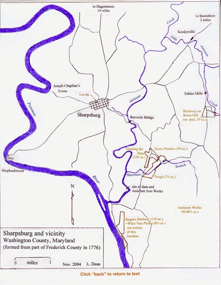 Map Of Sharpsburg And Vicinity