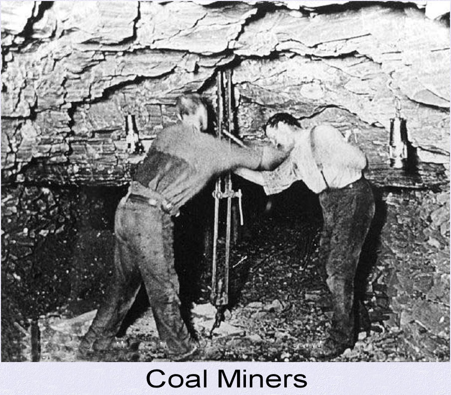 Coal mining tools and relics from the early 20th century