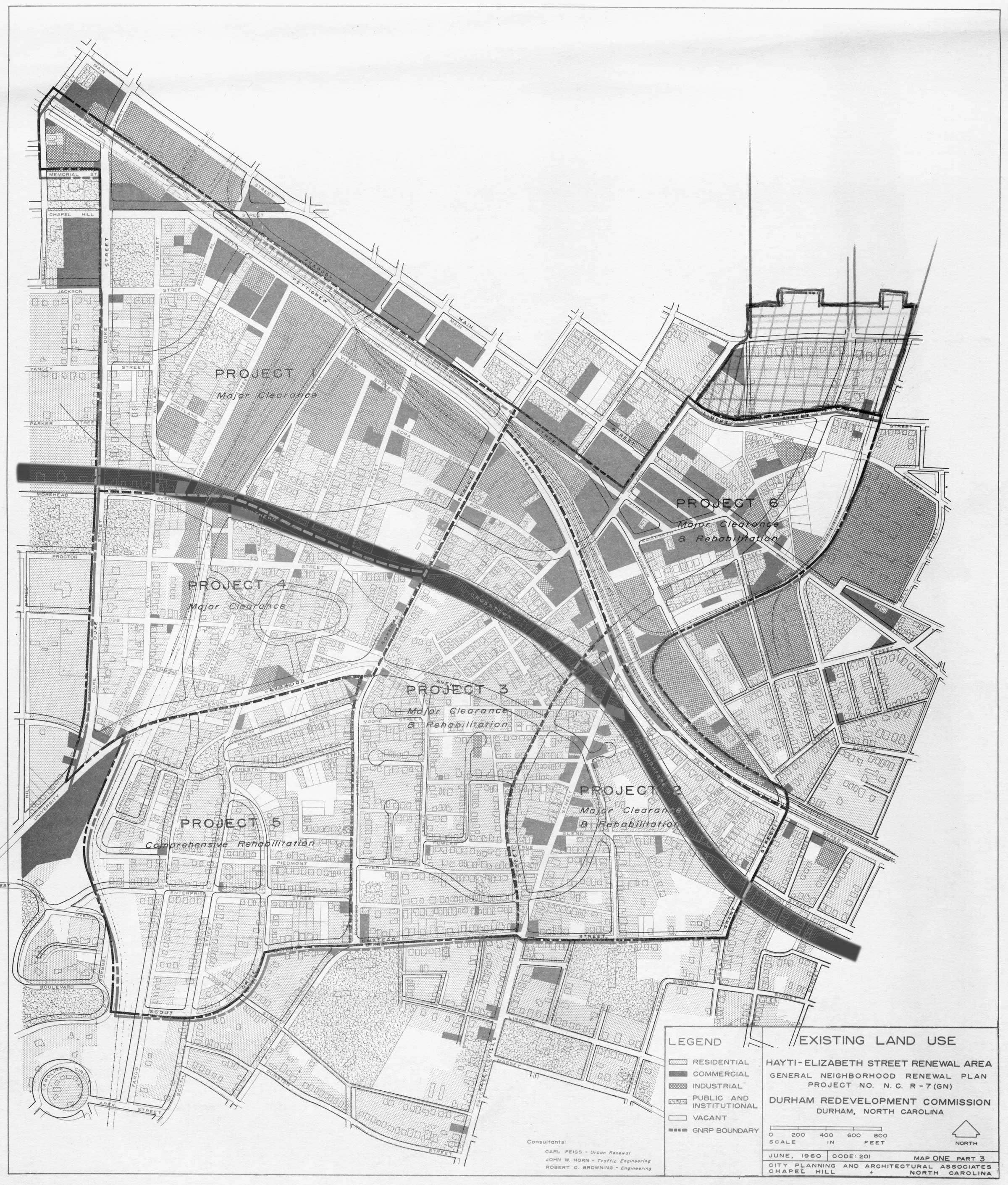 Durham City Map Nc